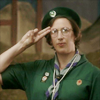 thingswithwings: chummy from call the midwife doing the scout salute (call the midwife - chummy boyscout salut)