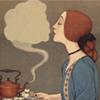 liabrepyh: girl kissing tea steam (tea kiss)