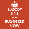 liabrepyh: bloody hell we're buggered now (bloody hell)