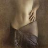 leafofid: woman's bare torso, man's hand, veil skirt (Veils)