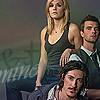 blackeyedgirl: Audrey, Duke and Nathan from Haven, Audrey's arm on Nathan's shoulder, Duke crouched below. Text : Mine. (Audrey&herBoys)