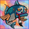 stealth_noodle: Wind Waker fish with a paintbrush in his mouth. (wind waker fish, but is it art?)