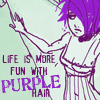 sofiaviolet: life is more fun with purple hair (text and illustration) (purple)