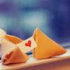 tehkittykat: a fortune cookie with a heart message inside (fud; fortune cookie love)