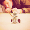jenwryn: Eleven, pushing a minature Dalek model. (doctor who • doctor; subterfuge)
