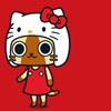 piplup: Felyne in a Hello Kitty costume ([mhunter] » Hello Felyne)