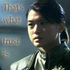 "samvara: Photo of a woman and text ""that's what trust is"" (BSG - Trust_sharon)"