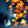 zanzando: Orange Lights, seen through a glass bowl. (Orange Lights)