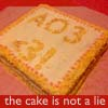 starlady: the AO3 cake is not a lie (cake is (not) a lie)