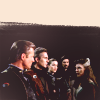 azarsuerte: Sheridan, Sinclair, Susan, Marcus and Delenn standing together on the White Star (Babylon 5 - cast)