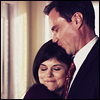 red_eft: Peter and El from White Collar. Peter kisses the top of El's head as she snuggles against him. (Peter <3 El)