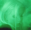 moonplanet: Green-coloured image of a girl. (greengirl)