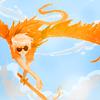 feathery: art@pretzelbox (strife; flyin away)