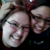 misskat: Kat and Afuna, both grinning (Kat and Fu)