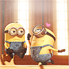 misskat: two minions from Despicable Me, getting into trouble (Minions)