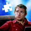 jesse_the_k: John Watson regards the void looking puzzled with white puzzle piece floating above him (JW puzzled)