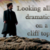 "jesse_the_k: BBC Sherlock atop a tor in Dartmoor, captioned ""Looking all dramatic on a cliff top"" (SH drama on cliff)"