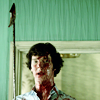 jesse_the_k: BBC Sherlock enters covered in blood holding bloody harpoon (SH tedious harpoon)