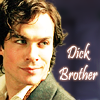 "tablesaw: Damon Salvatore, from the Vampire Diaries. The text reads ""Dick Brother"" (Dick Brother)"