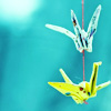 sloth: paper cranes (in flight)