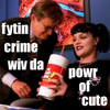 curuchamion: Ducky and Abby from NCIS captioned Fighting Crime with the Power of Cute (Ducky and Abby powr of cute)