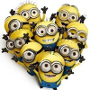 misskat: A bunch of minions from Despicable Me in heart formation (Minion Heart)