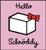 darthhellokitty: Schrodinger's cat - a box with Hello Kitty's hair bow (Hello Schrody)