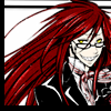 aquila_black: Grell, smiling. He looks almost sane and put-together, here. Colorful, but not out of control. (Grell: Happy)