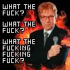 fierynotes: Picture of Jerry Springer surrounded by the flames of Hell, with the caption 'What the fucking fucking fuck?' (wft)