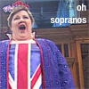 john: Wagnerian Soprano Jane Eaglen in her Rule Britannia outfit from the Last Night of the Proms 2000. (Oh sopranos.)