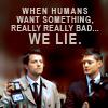hsapiens: Castiel & Dean as FBI agents (D/C -- Humans Lie)