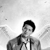hsapiens: Castiel Head Tilted (Castiel -- Head Tilt w/ Wings)