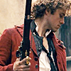 pro_patria_mortuus: Enjolras in profile, head bowed, rifle in hand. (marble lover of liberty)