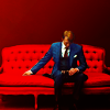 geohound: A fancy cannibal sitting on a bright red couch. ([Hannibal] lovely devil)
