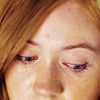 annemari: A close-up of Amy Pond looking down. (mcr; mikey; youngest fire)