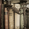 unseeliescribe: (Pics: books and candelabra)