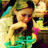 presently: Pam sucking down a girlie drink (Default)