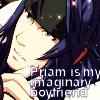 "sorakh28: Priam's confession pic saying ""Priam is my imaginary boyfriend"". (stupid sexy priam)"