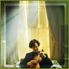 darkemeralds: Screenshot of Sherlock 2010 showing Sherlock Holmes with his violin (Sherlock)