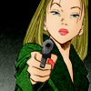 mona: eva from monster is pointing a gun at your fucking ear. be afraid. be very afraid. (eva)
