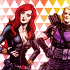 goodbyebird: Avengers: Clint and Natasha striking some ridiculous poses and looking fabulous. (C ∞ agents of V.O.G.U.E.)