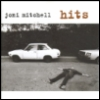 """jmtorres: the cover of the Joni Mitchell best-of CD """"Hits,"""" featuring two batter cars and a woman lying on the ground. (woman musician, good and bad is all one, wry emo, car accident)"""
