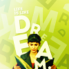 "goodbyebird: Amelie holding a book, ""dream."" (ⓕ dream)"