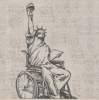 hilarytamar: the Statue of Liberty in a wheelchair (posts--wheelchair Liberty)