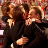 littlemoose: The four members of the group Take That on stage, hugging each other. (TT - Circus: Group hug!)