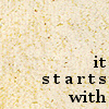 itstartswith: it starts with on old paper (it starts with)