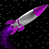 acelightning: 1950s science fiction rocket in space (rocket)