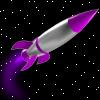 acelightning: 1950s science fiction rocket in space (rocket)