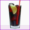 acelightning: glass of dark liquid with a slice of lime & a straw (drink)