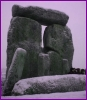 acelightning: Stonehenge in pre-dawn light, dusted with snow (Stonehenge)